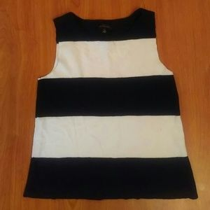 The Limited Black White Sleeveless Sweater Size S
